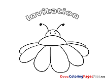 Insect Children Birthday Colouring Page