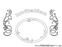 Invitation Birthday Colouring Sheet free