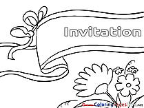 Invitation printable Birthday Coloring Sheets