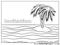 Island free Birthday Coloring Sheets