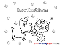 Kids Birthday Coloring Page