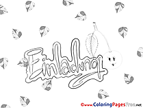 Leaves Birthday Coloring Pages download