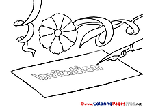 Letter download Birthday Coloring Pages