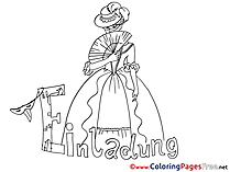 Masquerade printable Birthday Coloring Sheets