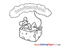 Mouse Birthday Colouring Sheet free