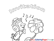 Music for Kids Birthday Colouring Page