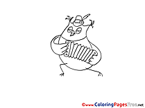 Owl Coloring Sheets Birthday free