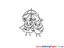 Owl Colouring Sheet download Birthday