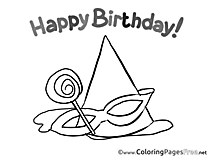 Party free Birthday Coloring Sheets