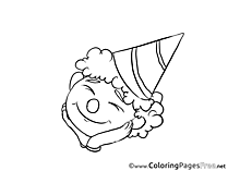 Party printable Coloring Pages Birthday
