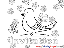 Pigeon Birthday Coloring Pages free