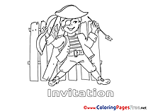 Pirate Coloring Sheets Birthday free
