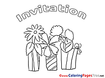 Presents Birthday Coloring Pages free