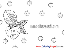 Raspberry Coloring Pages Birthday