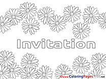 Spring Colouring Page Birthday free