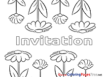 Summer Flowers printable Coloring Pages Birthday