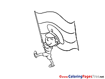 Flag for Children free Coloring Pages