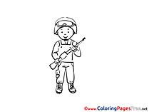 Man for free Coloring Pages download