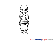 Military Colouring Sheet download free