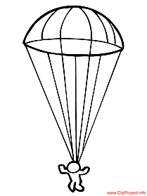 Parachutist picture to color