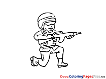 Rifle Kids download Coloring Pages