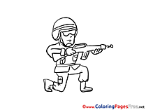 Soldier Children Coloring Pages free