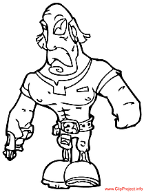 Warrior coloring page for free