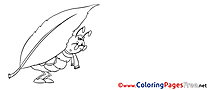 Ant printable Coloring Pages for free