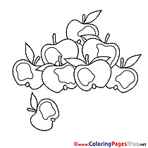 Apples Colouring Page printable free
