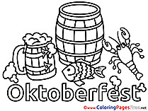 Barrel Oktoberfest Colouring Page printable free