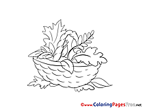 Basket Kids free Coloring Page
