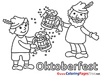 Beer Oktoberfest free printable Coloring Sheets
