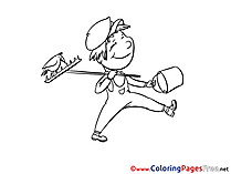 Boy Autumn Coloring Pages for free