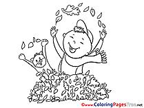 Boy for Children free Coloring Pages