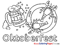 Crawfish Oktoberfest free Colouring Page download