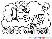 Feast Oktoberfest Children download Colouring Page