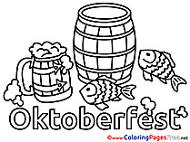Feast Oktoberfest download Colouring Sheet free