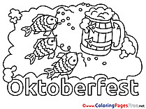 Feast Oktoberfest for Children free Coloring Pages