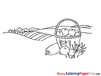 Field download Colouring Sheet free