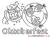 Fish Oktoberfest Children Coloring Pages free
