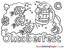 Fish Oktoberfest Colouring Sheet download free
