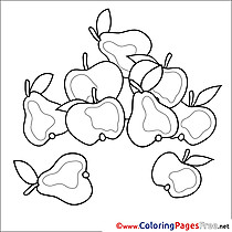 Fruits free printable Coloring Sheets