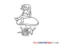 Gnome Coloring Sheets download free
