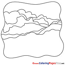 Hills free printable Coloring Sheets