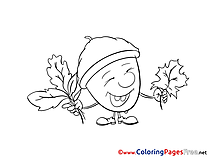 Image Acorn download printable Coloring Pages