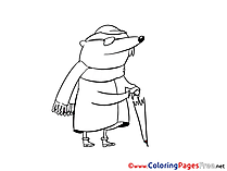 Mole Children Coloring Pages free