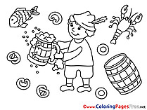 Mug Beer  Oktoberfest for Children free Coloring Pages