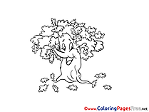 Oak Colouring Page printable free