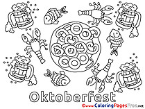 Oktoberfest Colouring Page printable free