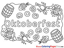 Oktoberfest for free Coloring Pages download